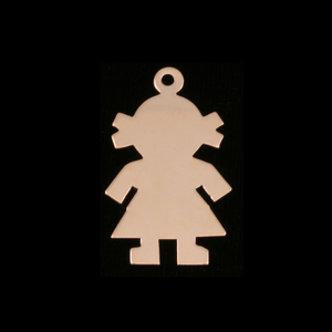 Metal Stamping Blanks Gold Filled Girl Body Silhouette Charm, 24g