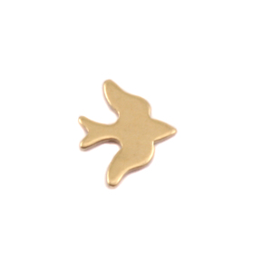 "Charms & Solderable Accents Brass Sparrow Solderable Accent, 8mm (.31"") x 6.8mm (.27""), 24g - Pack of 5"
