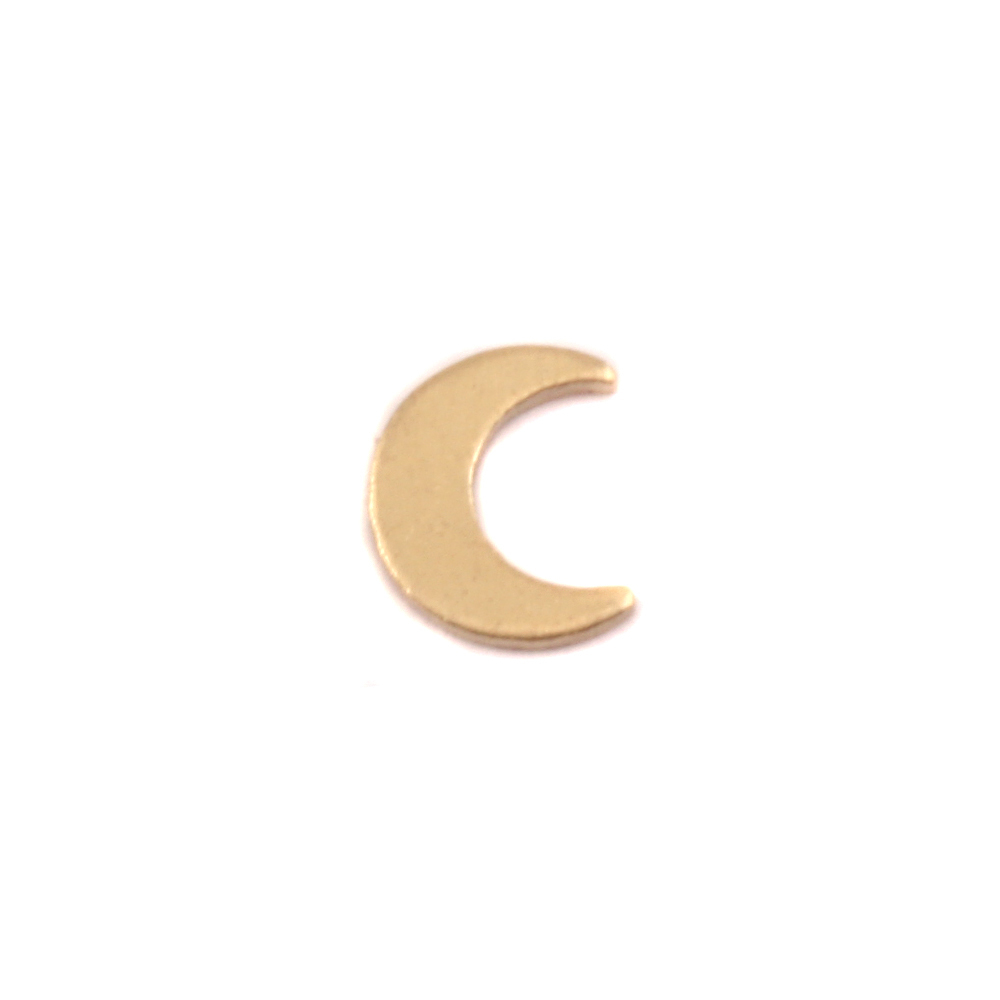 Charms & Solderable Accents Brass Moon Solderable Accent, 24g - Pack of 5