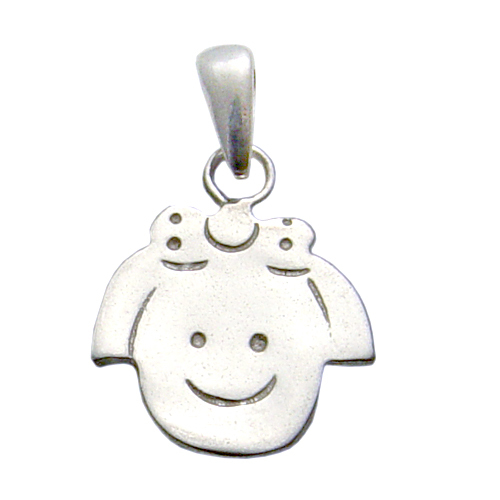 Charms & Solderable Accents Sterling Silver Girl Charm