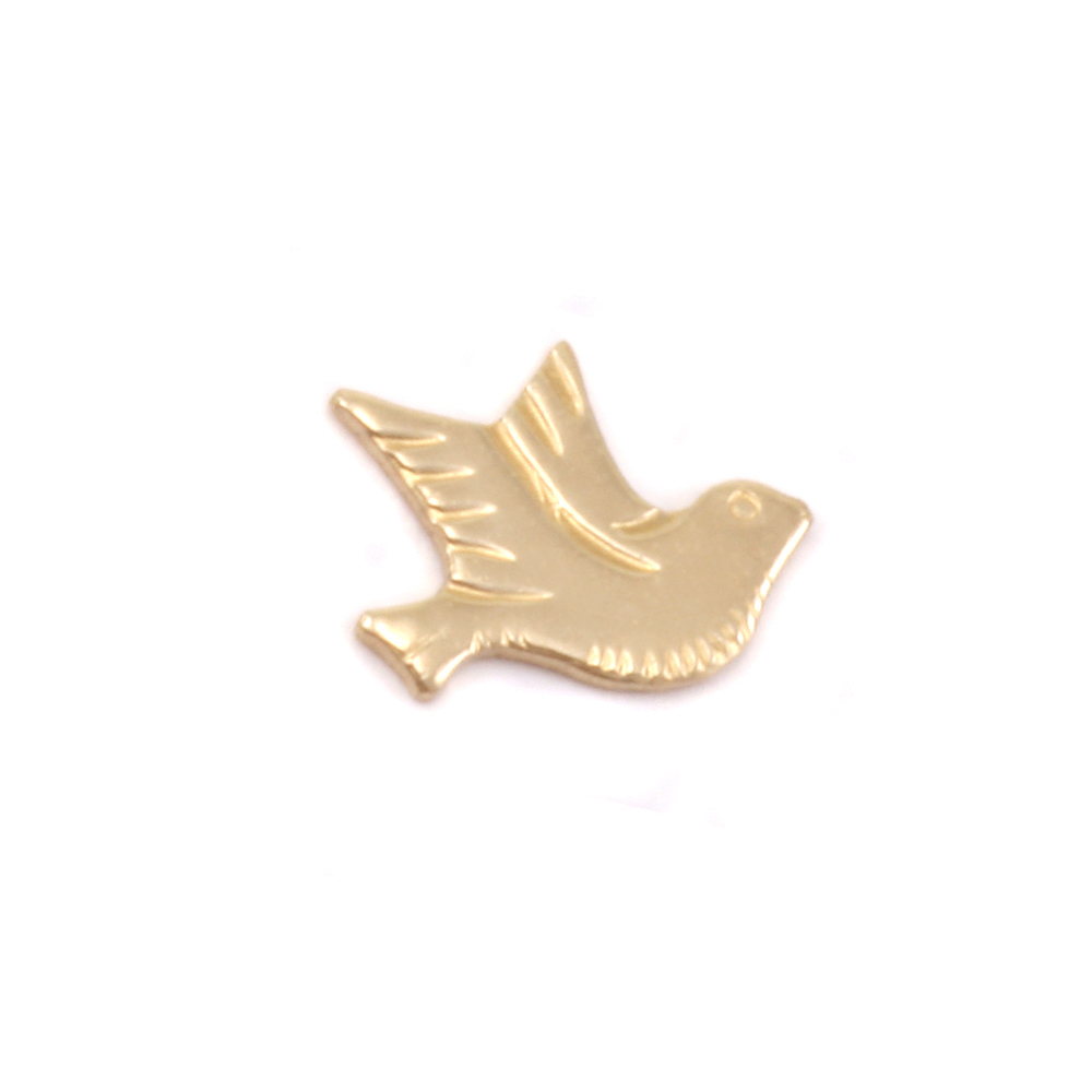 Charms & Solderable Accents Gold Filled Dove Right Facing Solderable Accent, 24g - Pack of 3