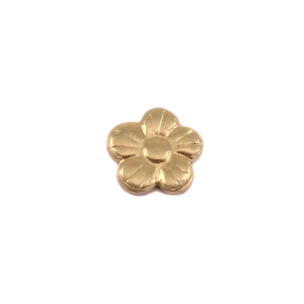 Charms & Solderable Accents Brass Pansy Solderable Accent, 24 Gauge - Pack of 5