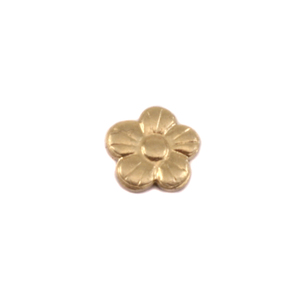 "Charms & Solderable Accents Brass Pansy Solderable Accent, 6mm (.23"") x 6mm (.23""), 24g - Pack of 5"