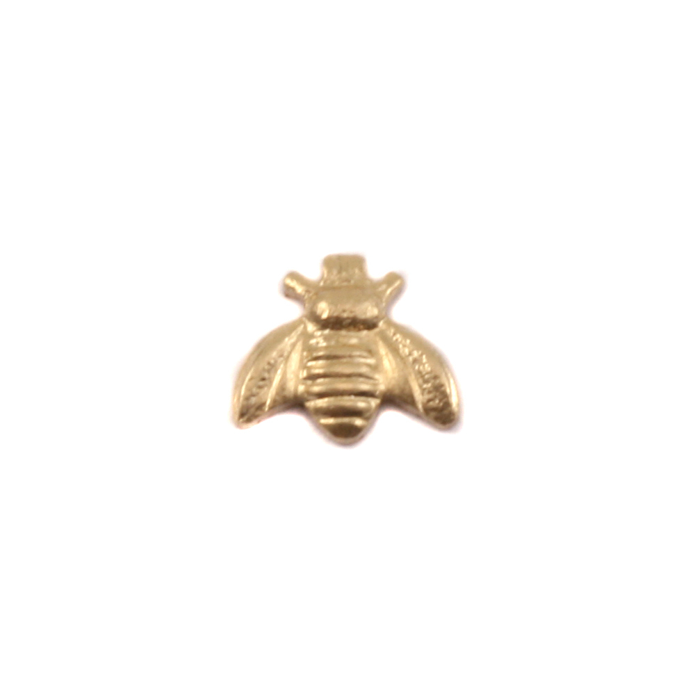 "Charms & Solderable Accents Brass Bumble Bee Solderable Accent, 6.3mm (.24"") x 5.5mm (.21""), 24g - Pack of 5"