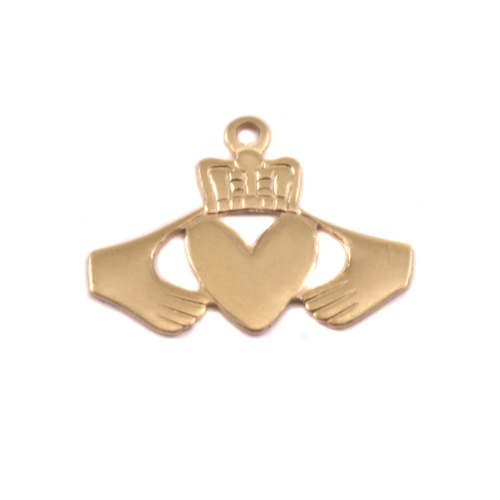Charms & Solderable Accents Brass Claddagh Solderable Accent, 28g