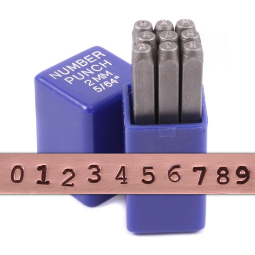 "Metal Stamping Tools Typewriter Number Stamp Set 5/64"" (2mm)"