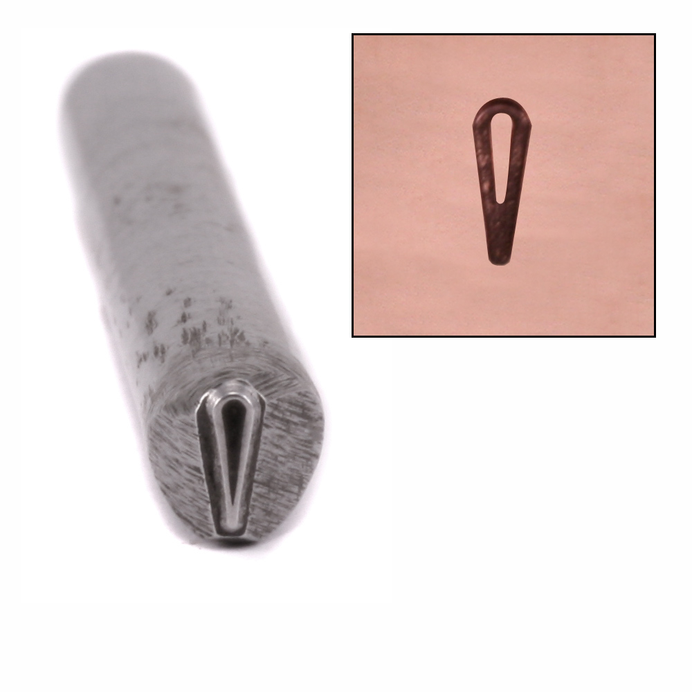 Metal Stamping Tools Open Teardrop Metal Design Stamp