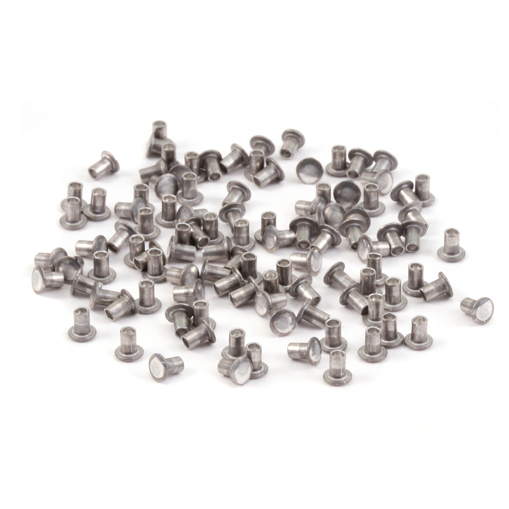 "Rivets,  Findings & Stringing Aluminum Hollow 1/16"" Rivets, 3/32"" Long"
