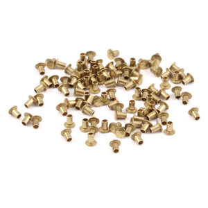 "Riveting Tools & Supplies Brass Hollow 1/16"" Rivets, 3/32"" Long"