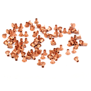 "Riveting Tools & Supplies Copper Hollow 1/16"" Rivets, 3/32"" Long"