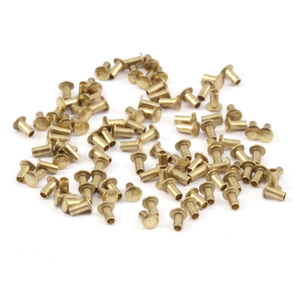 "Rivets,  Findings & Stringing Brass Hollow 1/16"" Rivets, 1/8"" Long"