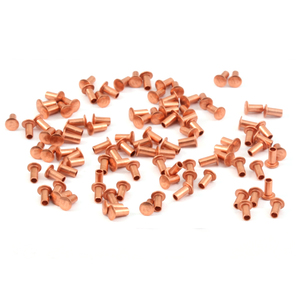 "Riveting Tools & Supplies Copper Hollow 1/16"" Rivets, 1/8"" Long"