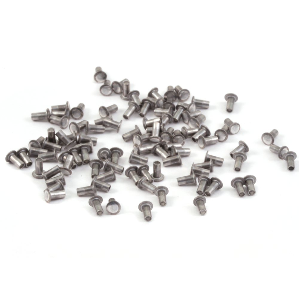 "Rivets,  Findings & Stringing Aluminum Hollow 1/16"" Rivets, 1/8"" Long"