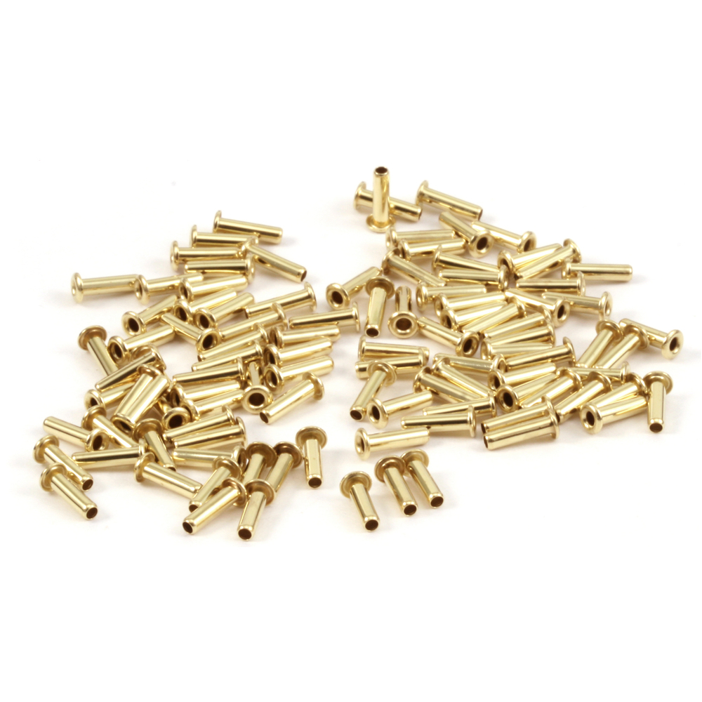 "Rivets,  Findings & Stringing Brass Hollow 1/16"" Eyelets, 7/32"" Long"