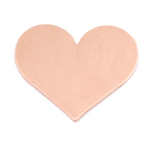 "Metal Stamping Blanks Copper Classic Heart, 26.5mm (1.04"") x 21.5mm (.84""), 24g"