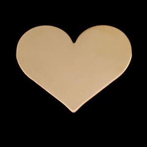 Metal Stamping Blanks Gold Filled Large Classic Heart, 24g