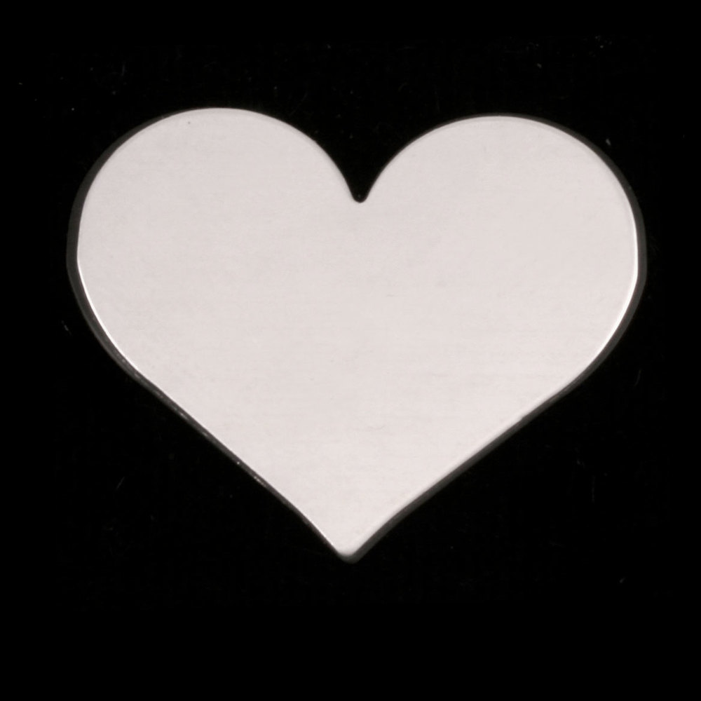 Metal Stamping Blanks Sterling Silver Large Classic Heart, 24g