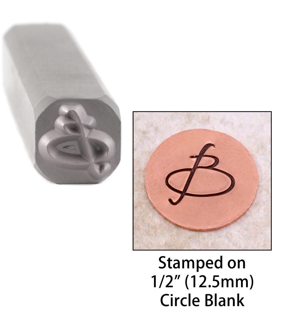 "Metal Stamping Tools Script Individual Letter ""B""  8mm"