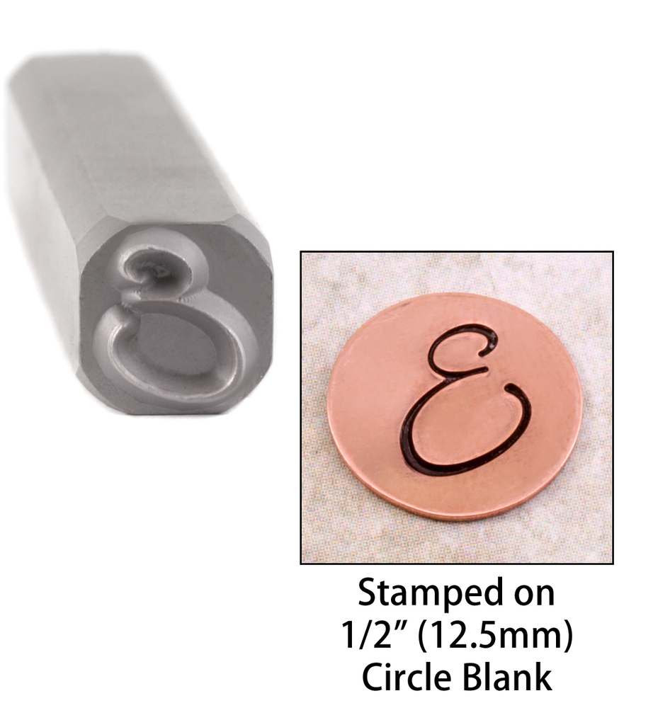"Metal Stamping Tools Script Individual Letter ""E""  8mm"