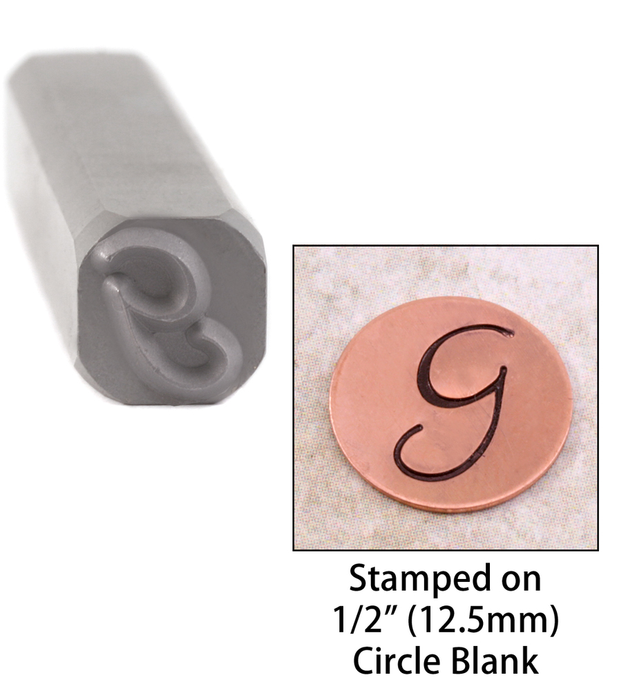 "Metal Stamping Tools Script Individual Letter ""G""  8mm"