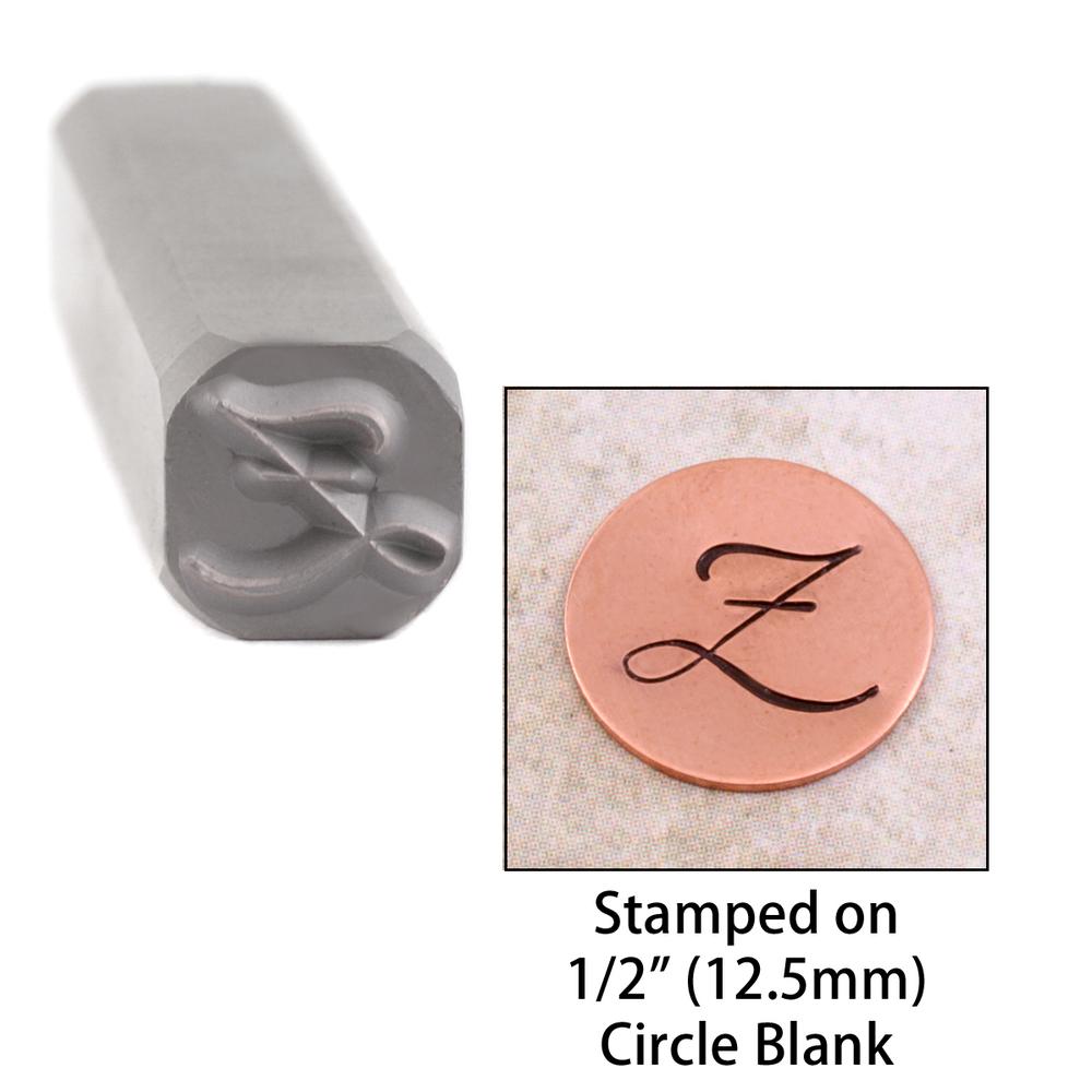 "Metal Stamping Tools Script Individual Letter ""Z""  8mm"