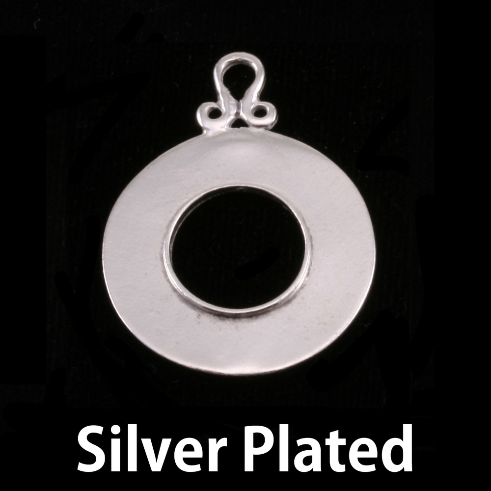 Metal Stamping Blanks Silver Plated Washer with Inner Edge
