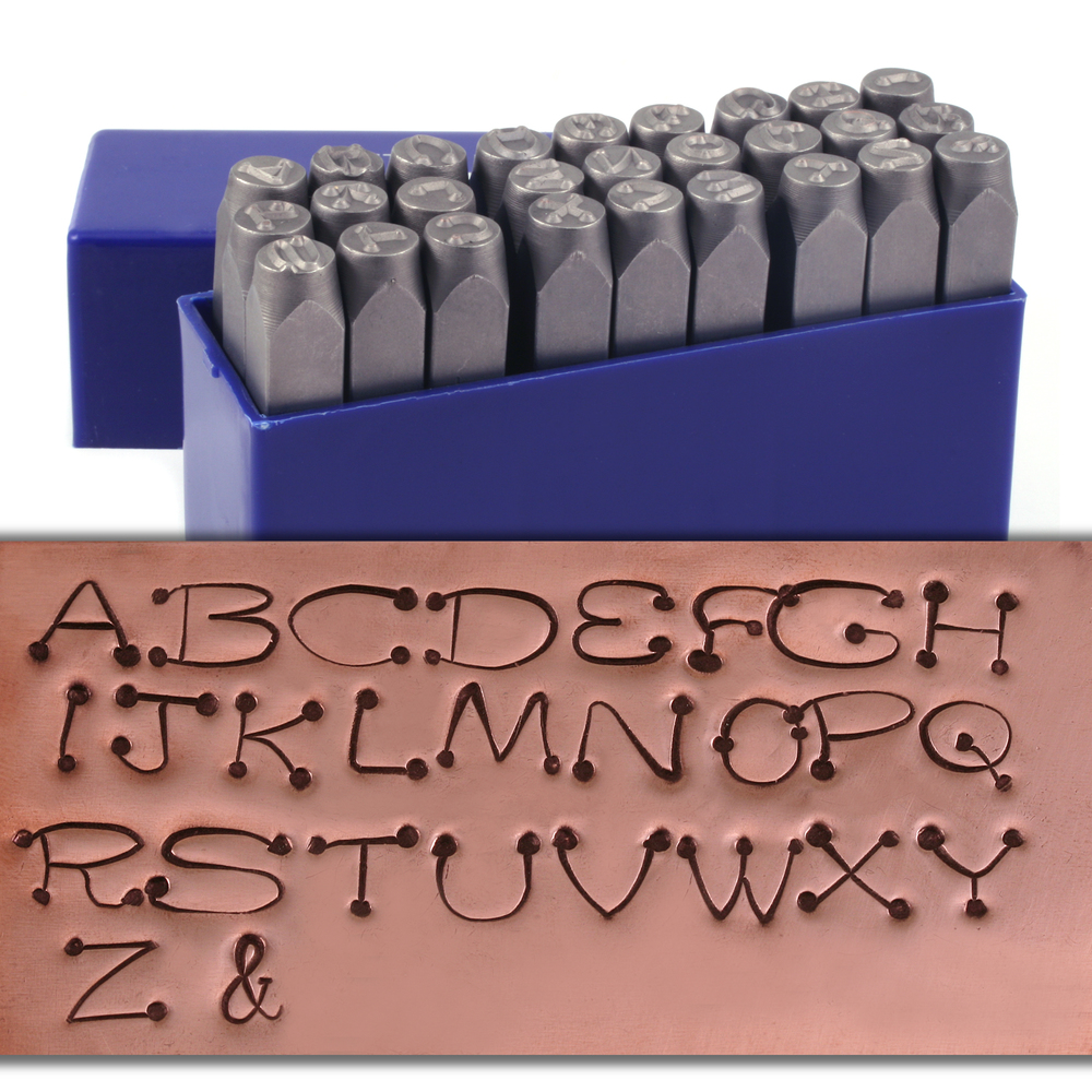 "Metal Stamping Tools Dots Uppercase Letter Stamp Set 1/4"" (6mm)"