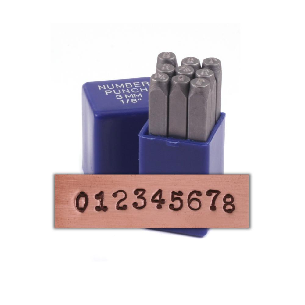 "Metal Stamping Tools Dots Number Set 1/8"" (3.2mm)"