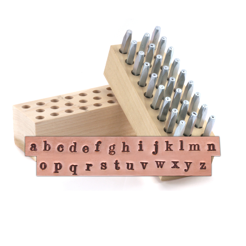 "Metal Stamping Tools Beaducation Chronicle Lowercase Letter Stamp Set 3/32"" (2.4mm)"