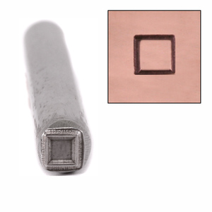 Metal Stamping Tools Square Metal Design Stamp, 4mm