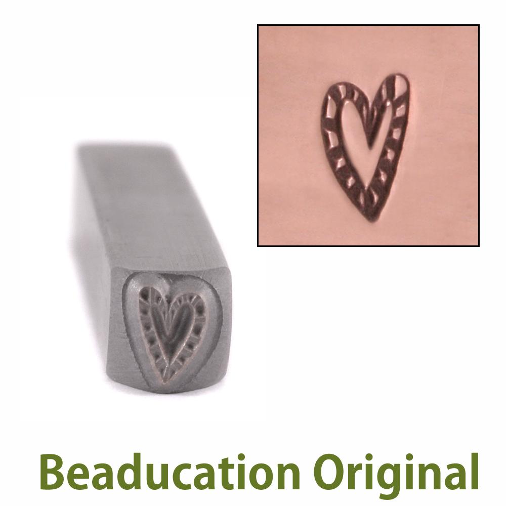 Metal Stamping Tools Zebra Heart Metal Design Stamp-Beaducation Original