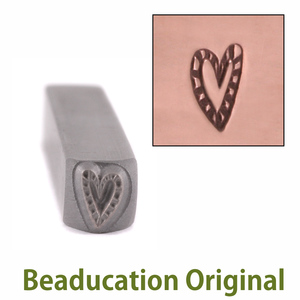 Metal Stamping Tools Zebra Heart Metal Design Stamp-Beaducation Original