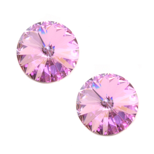 Beads & Swarovski Crystals Swarovski Crystal Rivoli Stone - Light Vitrail 14mm, Pack of 2