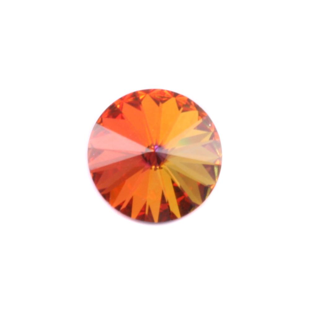 Crystals & Beads Swarovski Crystal Rivoli - Volcano 14mm