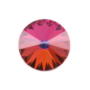 Crystals & Beads Swarovski Crystal Rivoli - Volcano 18mm
