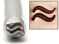 Metal Stamping Tools 2 Waves Design Stamp