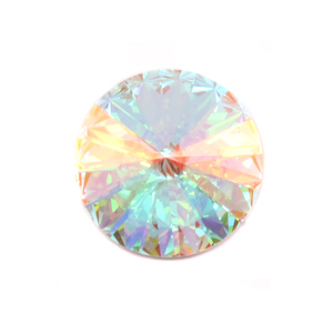 Crystals & Beads Swarovski Crystal Rivoli - Crystal Clear AB 18mm