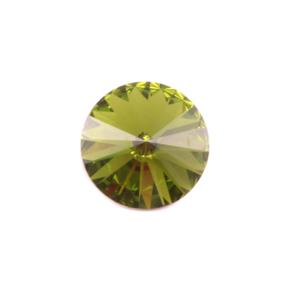 Crystals & Beads Swarovski Crystal Rivoli - Olivine 14mm Limited Edition