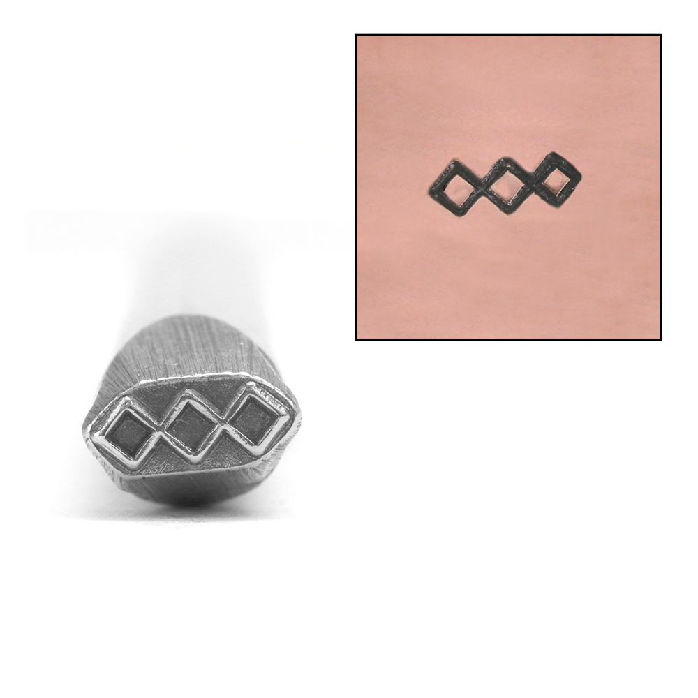 Metal Stamping Tools 3 Diamonds Metal Design Stamp