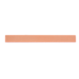 "Metal Stamping Blanks Copper Rectangle Bar, 62mm (2.44"") x 7mm (.28""), 24g"