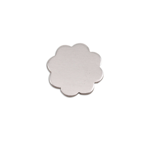 "Metal Stamping Blanks Aluminum Flower with 8 Petals, 14mm (.55""), 18g, Pack of 5"
