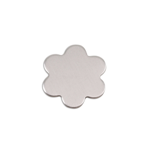"Metal Stamping Blanks Aluminum Flower with 6 Petals, 17mm (.67""), 18g, Pk of 5"