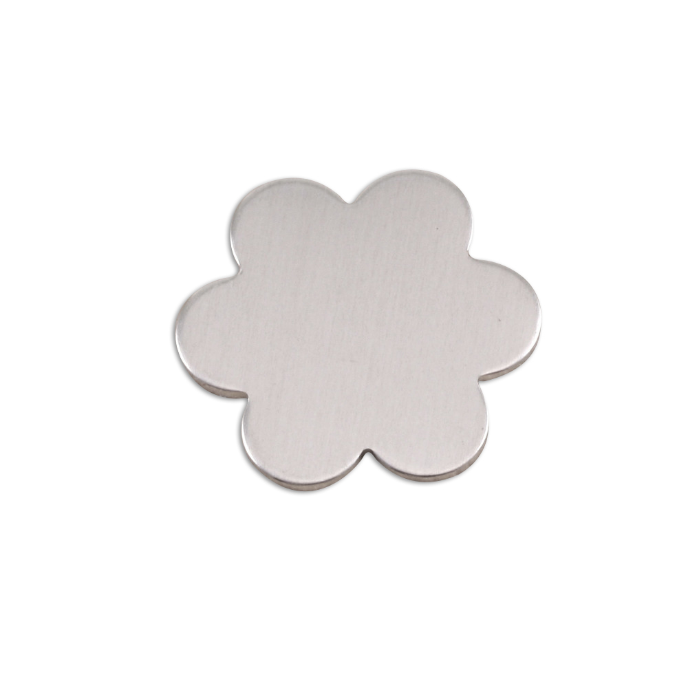 "Metal Stamping Blanks Aluminum Flower with 6 Petals, 19.5mm (.77""), 18g, Pack of 5"