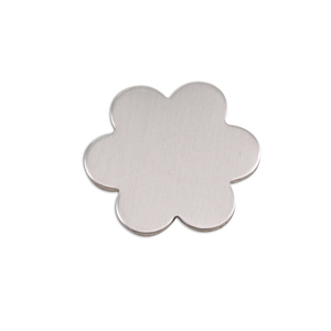 "Metal Stamping Blanks Aluminum Flower with 6 Petals, 19.5mm (.77""), 18g, Pk of 5"