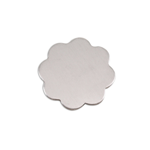 "Metal Stamping Blanks Aluminum Flower with 8 Petals, 19mm (.75""), 18g, Pk of 5"
