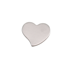 "Metal Stamping Blanks Aluminum Stylized Heart, 15mm (.59"") x 14mm (.55""), 18g, Pk of 5"