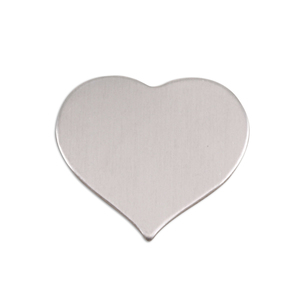 "Metal Stamping Blanks Aluminum Puffy Heart, 24mm (.94"") x 21.5mm (.85""), 18g, Pk of 5"