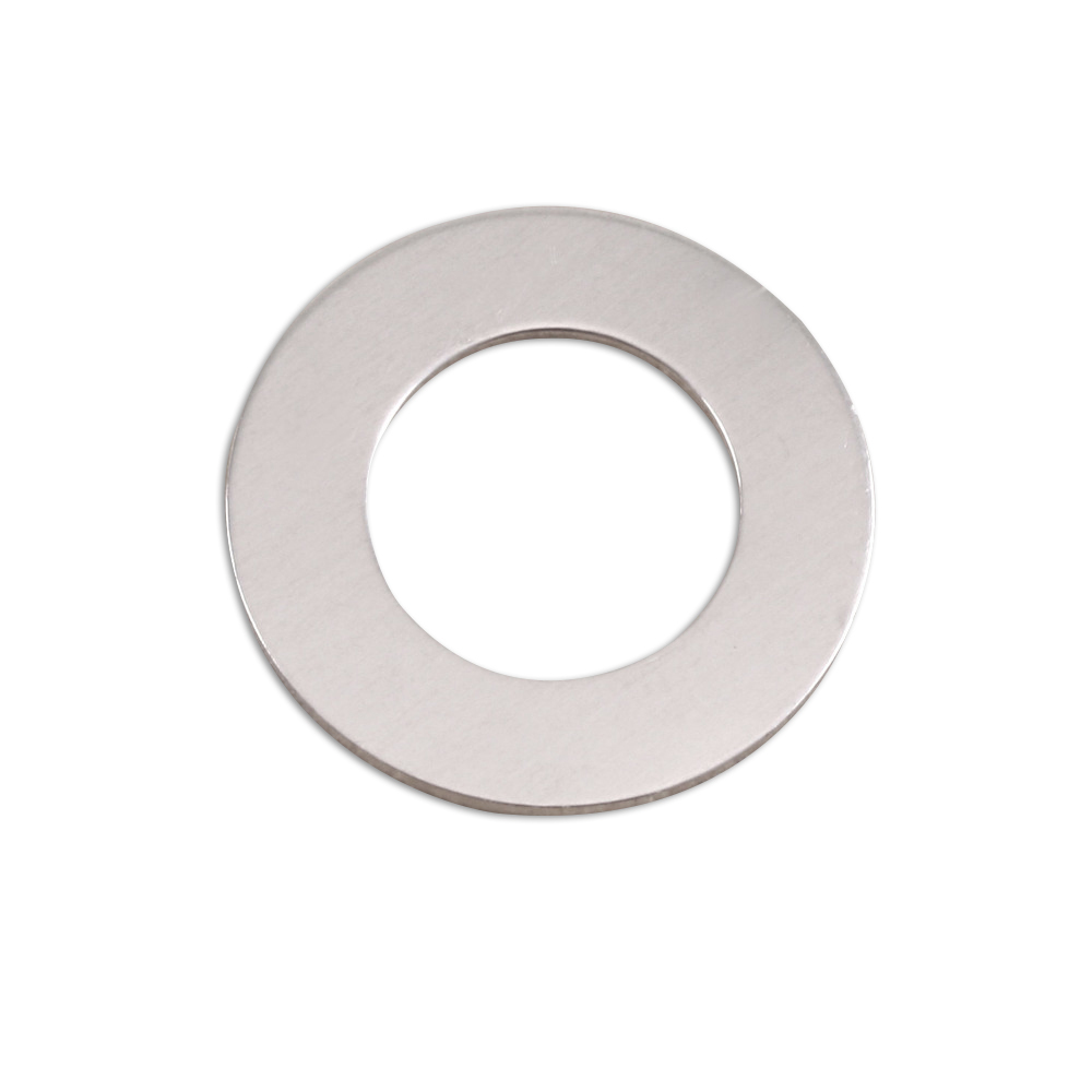 "Metal Stamping Blanks Aluminum Washer, 22mm (.87"") with 12.7mm (.51"") ID, 18g, Pack of 5"