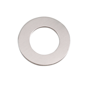 "Metal Stamping Blanks Aluminum Washer, 22mm (.87"") with 12.7mm (.51"") ID, 18g, Pk of 5"