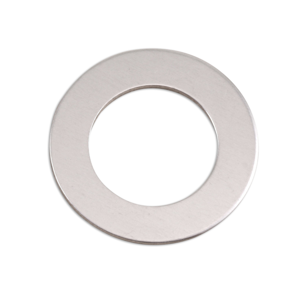 "Metal Stamping Blanks Aluminum Washer, 25mm (1"") with 16mm (.63"") ID, 18g"